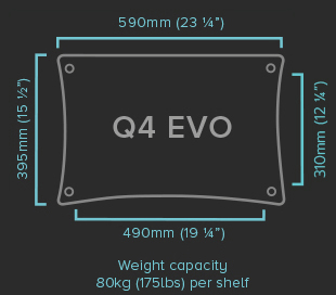 Quadraspire Q4-EVO Shelf-Specifications