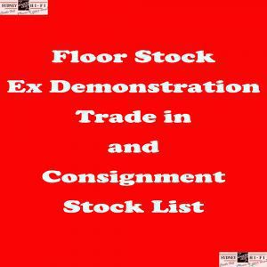 USED, FLOOR STOCK AND CONSIGNMENT LIST