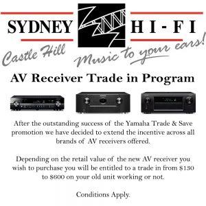 AV Receiver Trade Program