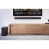 2.1 Soundbar with subwoofer on wall