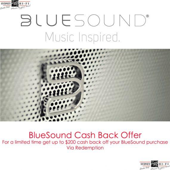 Bluesound Cash Back Offer