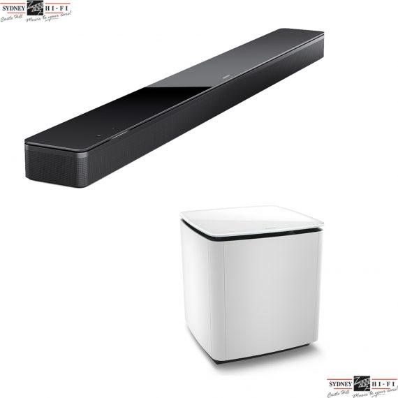 Bose Soundbar 700 plus AM 300 White Bass Module Bundle