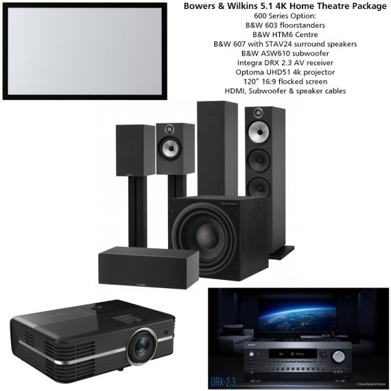 Bowers & Wilkins 5.1 4K Home Theatre Package